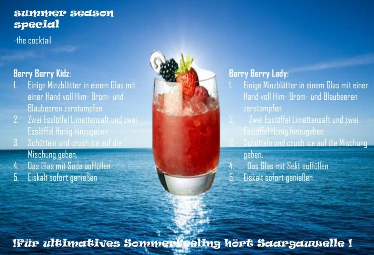 Summer Seasn Special SaarGau Wellen Cocktail